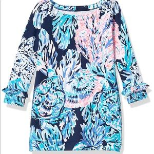 New LILLY PULITZER Girls Mini Sophie Ruffle Dress